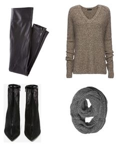 """Sweater weather "" by madiyah-x on Polyvore featuring ATM by Anthony Thomas Melillo, Wrap and Jeffrey Campbell"