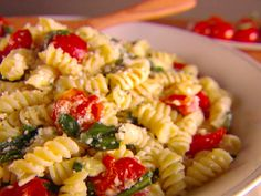 Fusilli with Spinach and Asiago Cheese from FoodNetwork.com