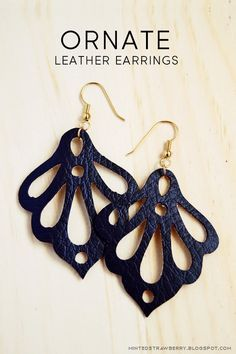Minted Strawberry: DIY: Ornate Faux Leather Earrings using the Silhouette Curio