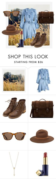 """""""A city girl in the country"""" by flower-of-paris ❤ liked on Polyvore featuring Pottery Barn, Zimmermann, Dr. Martens, ToyShades, rag & bone, EF Collection, Estée Lauder and country"""