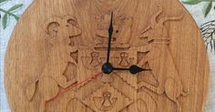 Wooden clock for a friend who is keen on the lesser well know football club - Bradford Park Avenue, West Yorkshire. Made from 27mm Solid Oak, compl…   Pinterest
