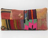 sofa pillow linen throw pillow floor pillow cover outdoor floor cushion ethnic throw pillow furniture DECOLIC patchwork kilim pillow 16458