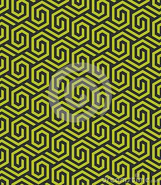 Abstract seamless retro pattern made from hexagonal shapes in green and black colors Hexagon Pattern, Retro Pattern, Black Colors, Pattern Making, Shapes, Abstract, Illustration, Green, Design