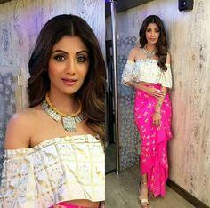 Top Looks From Shilpa Shetty's Super Dancer Closet Lakme Fashion Week, India Fashion, Indian Wedding Outfits, Indian Outfits, Indian Clothes, Indian Attire, Indian Wear, Indian Designer Outfits, Designer Dresses