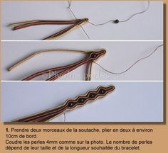 bracelet tutorial - its second part is here (how to attach backing)… Soutache Tutorial, Macrame Tutorial, Bracelet Tutorial, Soutache Bracelet, Soutache Jewelry, Embroidery Applique, Beaded Embroidery, Jewelry Art, Jewelry Bracelets