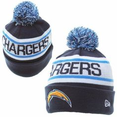 Mens   Womens San Diego Chargers New Era NFL Biggest Fan Redux Cuffed Knit  Pom Pom 86d133d399cd