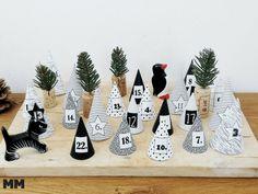 Adventkalender bastelnen, DIY Adventskalender, nordic Adventkalender, Basteln für Weihnachten Christmas Time, Xmas, Advent Calendar, Holiday Decor, Giveaway, Kindergarten, Template, Winter, Christmas Advent Calendars