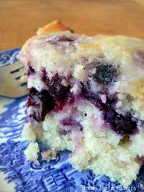 What a nice summery cake this is, the puckery lemon with the sweet blueberries. I made this into a bundt cake, but next time I'll do it in ...