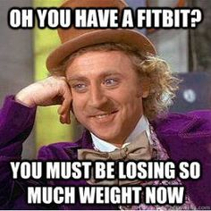Too funny! Strength training & nutrition need to be taken into account as well!