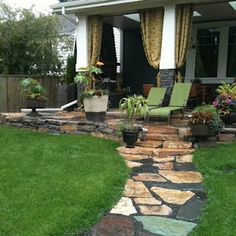 Flagstone Patio & Walkway - (St. Gregory's Landscaping)
