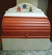 Resultado de imagen para paneras de madera Decoupage, Bread Boxes, Retro, Kitchens, Banana, Furniture, Country, Home Decor, Frases