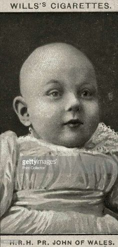 Prince John as a baby died at 12King George and Mary