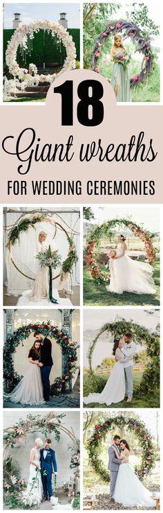 18 Circle Ceremony Arch Wedding Decoration Ideas - Pretty My Party #circlearches #weddingwreaths #weddingdecorations