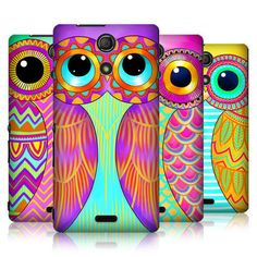 HEAD CASE DESIGNS OWL ILLUSTRATED HARD BACK CASE COVER FOR SONY XPERIA ZR #HeadCaseDesigns
