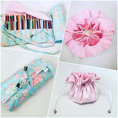 Encomendas prontas: estojo para 105 lápis de cor + saquinho porta bijus ! #encomendas #encomendapronta #sobencomenda #estojo #saquinho #estojos #portabiju #bijuterias #lapisdecor #acessorios #acessoriosfemininos #flores #nuvens #rosa #tonspasteis #floral