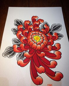 Chrysanthemum painting done this evening.