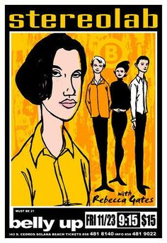 Stereolab tour poster.