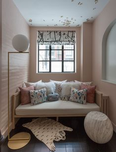 Pillows by Rosemary Hallgarten seen at Private Residence, Greenwich Village, New York | Wescover Kids Room Design, New Artists, Daybed, Entryway, Pillows, Interior Design, Studio, Furniture, Greenwich Village