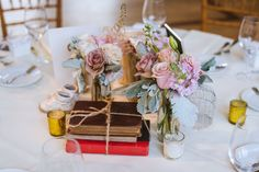 Colorful tablescape for a classic wedding at Aldie; Martin Reardon Photography