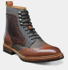 Check out the Madison II Wingtip Lace Boot by Stacy Adams - for true men of… High Ankle Boots, Shoe Boots, Stylish Mens Fashion, Fashion Edgy, Man Fashion, Fashion Ideas, Suede Leather Shoes, Soft Leather, Casual Boots