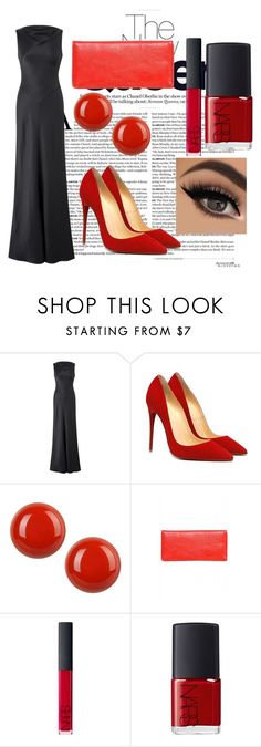 """""""Red"""" by amraa-145 ❤ liked on Polyvore featuring First People First, AX Paris, NARS Cosmetics, RedCarpet and red"""