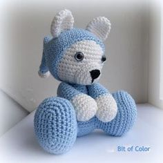 Crochet Bear in Nightdress Free Pattern