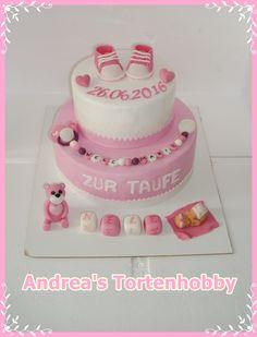 Baptism cake ,Tauftorte rosa