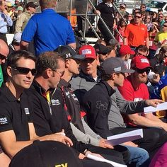 The outdoor driver meeting at Martinsville. #Padgram @teamhendrick