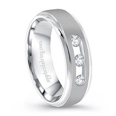 What do you Think about diamond wedding bands for men? - http://www.mybridalring.com/Mens/three-diamond-studded-wedding-band-in-14K-white-gold/