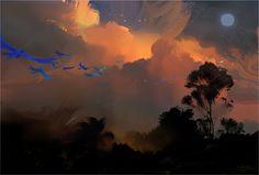 Nathan Fowkes Art: Rio 2, Flight Montage Study
