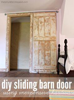 """""""S"""" is for Sliding Barn Door for $60"""
