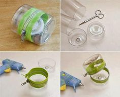 Colors of Life: DIY Plastic Bottle Zipper Container