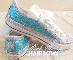 Elsa Frozen Bling Converse-frozen bling by GlitterMeBaby on Etsy