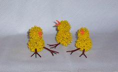 Easter Peeps Sweetgum Flocked Chicks by WestTwinCreations on Etsy, $7.50