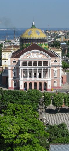 Amazonas Theater. Opera House located in the heart of the Amazon Rainforest, Manaus, BRAZIL