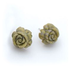 Connemara  Marble Carved Rose Earrings