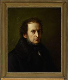 Wilhelm von Schadow Self Portrait of the Artist Oil on canvas 59 x 43 cm. Silly Pictures, Silly Pics, Ferdinand, Oil On Canvas, Mona Lisa, December 2013, Artwork, Random Stuff, German