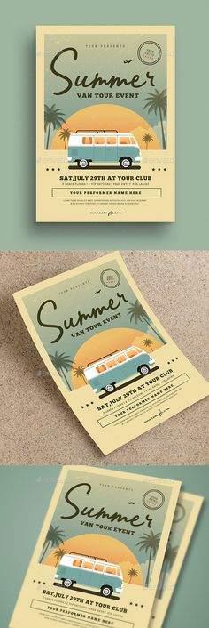 Vintage Summer Event Flyer Features Ai & Psd File 100 % Vector CMYK 300 DPI Print Ready Size + Bleed Editable txt, image, color Well oRganized Layer Font used Bahagia Chunkfive Typewriter style forget to rate this file ENJOY Event Poster Design, Event Poster Template, Graphic Design Flyer, Event Posters, Flyer Design Templates, Event Design, Creative Flyer Design, Poster Templates, Flyer Template