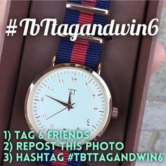ONE.MORE.DAY. It is back and its better than before #TBTTAGANDWIN6. This round we will select 6 random winners to walk away with a watch of their choice :) And what do you need to do? Simply tag 6 friends in the comments - repost the photo - and hashtag it with #tbttagandwin6. Contest ends: 23nd Feb 10pm. by tbt.watch