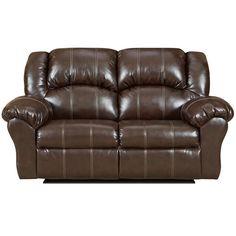 Flash Furniture 1002BRANDONBROWN-GG Exceptional Designs Brandon Brown Leather Reclining Loveseat