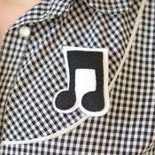 Music Note Brooch