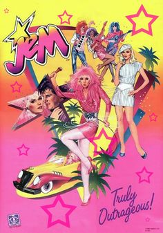 This is the poster that came with every Jem! doll. I absolutely LOVE this artist's style...so much better than the animated series version of Jem!