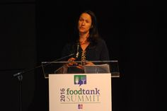 """Keynote Speaker, Dana Gunders, Staff Scientist, Food and Agriculture Program, Natural Resources Defense Council speaks about how people all over the country do care about this topic (food waste), and the influence  """"consumers are people"""" have! Watch Live @www.foodtank.com #foodtank"""