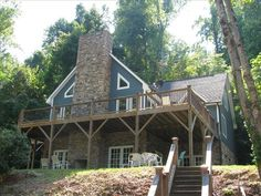 Lake Lure Vacation Rental - VRBO 378526 - 5 BR Blue Ridge Mountains House in NC, Lured Inn is a Luxury 5 Bedroom Lakefront Home on Lake Lure