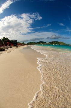 St. Martin, Orient Beach French side. My FAVORITE place to sink my toes in the sand!