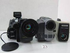 DV-540BB ソニー等ビデオカメラ3台セット ジャンク - ヤフオク!   SONY  CCD-V50 SONY  CCD-TRV90 ※電源が入りません。ハンドストラップ欠損。 SONY  AVC-1520