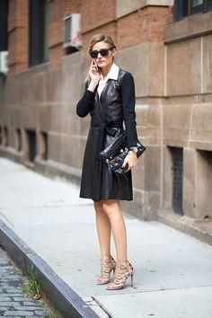 A leather wrap dress...a leather wrap dress...