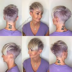 Purple pixie two tone. #nothingbutpixies #modernsalon #behindthechair #shorthair #pixiecut #pixie #platinumpixie #pixiechatpix #buzzcutfeed…