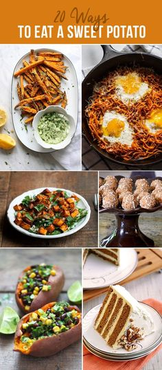 20 Ways to Eat a Sweet Potato; includes dinner, soup suggestions, casserole ideas, etc.
