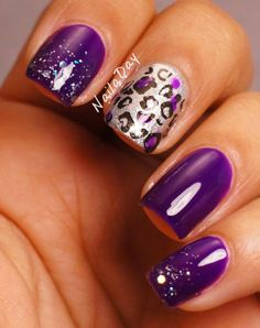 Trendy Nails Purple And Silver Design China Glaze Get Nails, Fancy Nails, Trendy Nails, Love Nails, Hair And Nails, Fantastic Nails, Fabulous Nails, Gorgeous Nails, Purple Nails